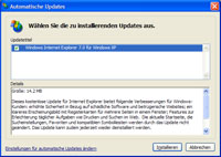 IE7 via Windows Update
