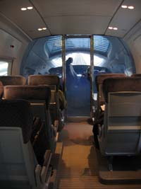 Cockpit of the ICE train